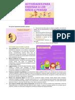 Actividades Para Enseñar a Pensar a Los Niños