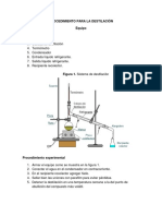 Procedimiento Para La Destilación