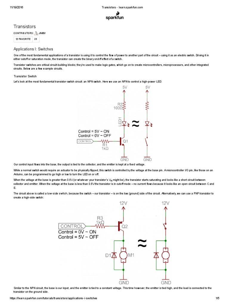 Transistors Learnsparkfun Transistor Field Effect Pnp Diagram