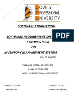 Software Requirement Specification on Online inventory management