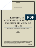 Refuting the Conception of Shirk of Engineer
