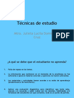 TÉCNICAS CURSO DE INDUCCION
