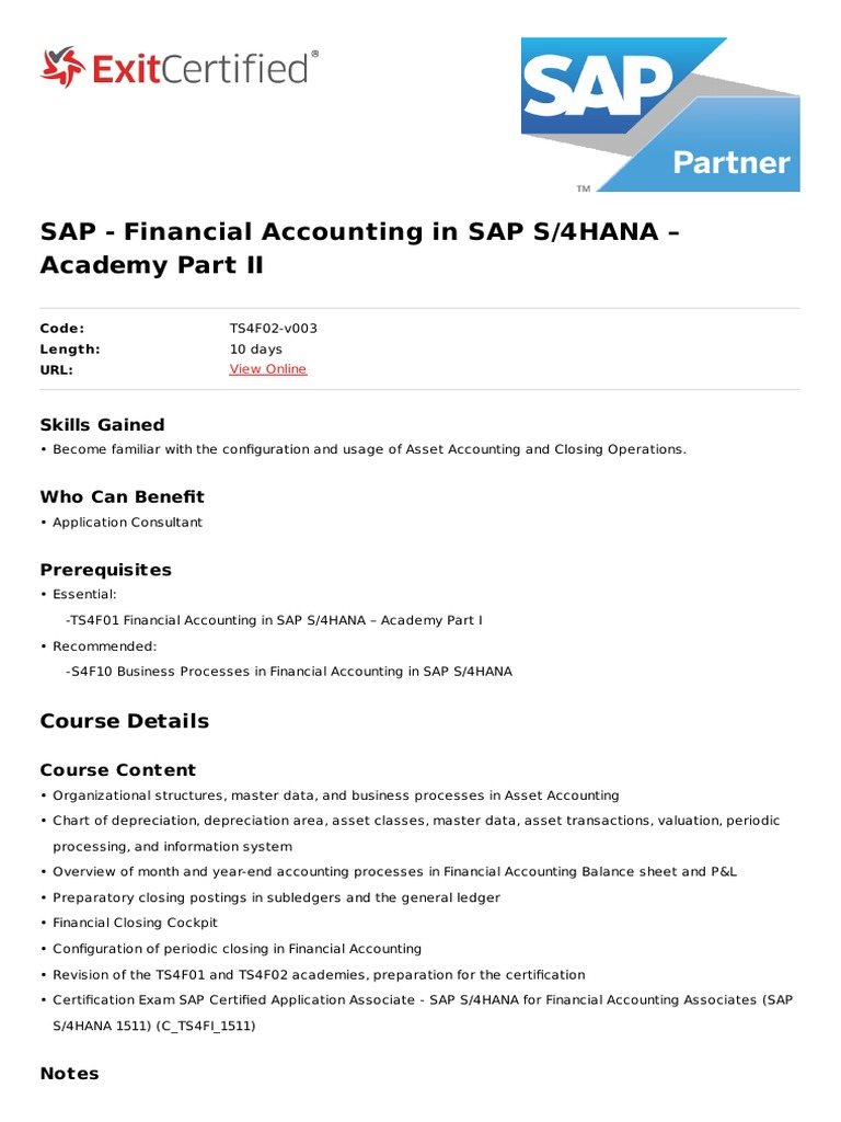 Financial-Accounting in Sap s4 Hana Academy