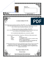 Contoh Surat Syukuran Pulang Haji