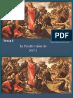 Tema 6 La Predicación de Jesús