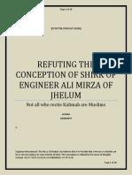 Refuting Ali Mirza Jhelumi