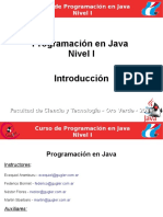 Introduccion Java Distancia Nivel I