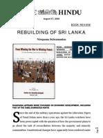 The Hindu 18082010 Rebuilding of Sri Lanka-book Review