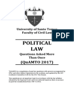 Question in Political Law 2017