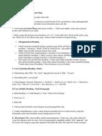 Cara Menggunakan Document Map