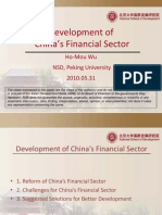 Development of China's Financial Sector