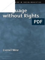 Lionel Wee_ Language Without Rights