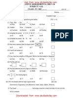 CBSE Class 4 General Knowledge Sample Paper SA1 2014 (1)