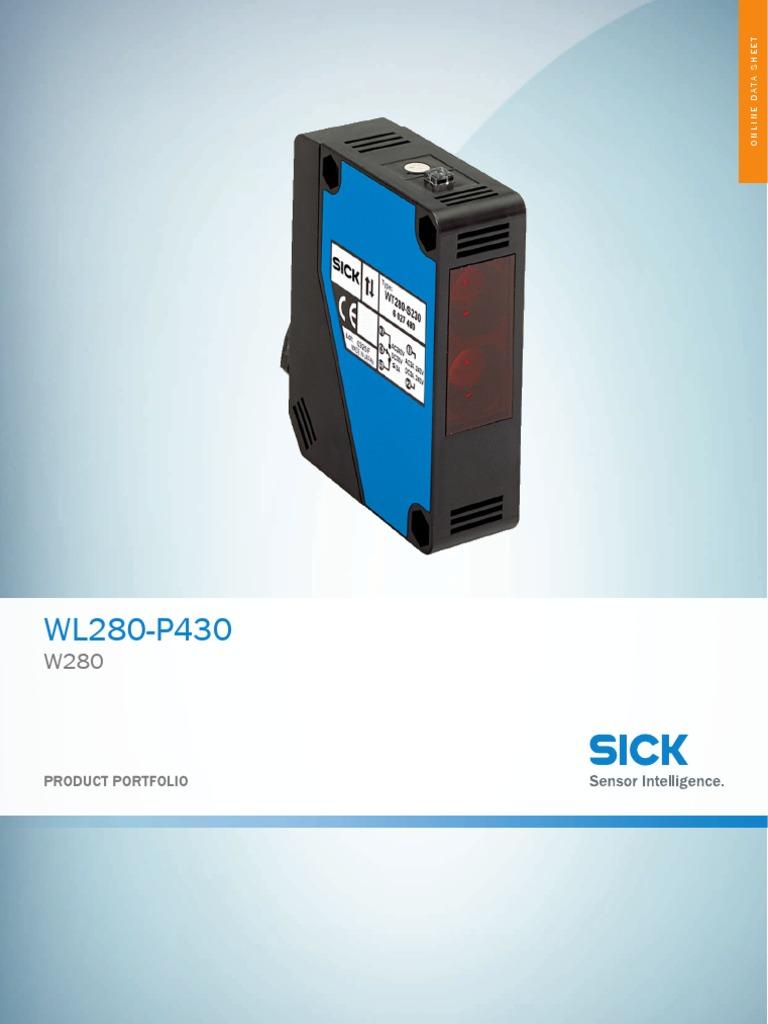 Datasheet Wl280 P430 6028286 Enpdf Sensor Switch Sick Photoelectric Wiring Diagram