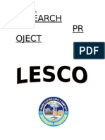 Research Project on Lesco