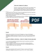 Peso de Cerdos en Libras