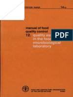 FAO Micro Lab Quality Control