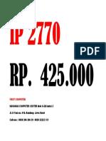 Harga IP 2770