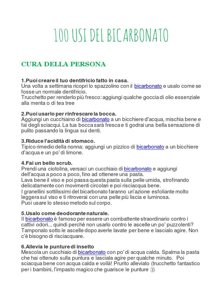 100 Usi Del Bicarbonato 4
