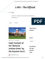 Legal Analysis of the 'National Anthem Order' by the Supreme Court