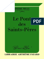 André Billy, Le Pont des Saints-Pères