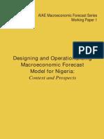 AIAE Macro Economic Forecast Series