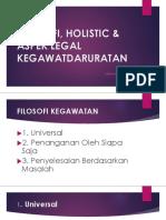 Filosofi, Holistic & Aspek Legal Kegawatdaruratan