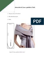 Diseño y Elaboración de Gasa o Pañoleta