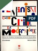 Feminismo Como Critica Da Modernidade