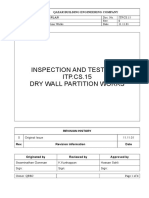 Dry Wall Partition-Method Statement