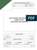 Concreting Method Statement