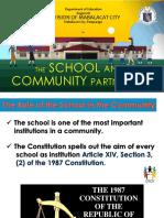 The School and Community Partnership