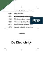 De Dietrich DME399X Microwave Manual