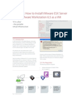 XD10004 How to Install ESX3_1_.5 in Workstation 6.5