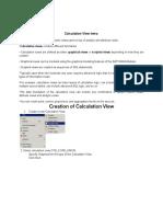 Sap Hana Data Modeling Calc Vie