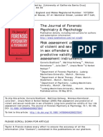 Risk assessment and prediction of violent and sexual recidivism in sex offenders