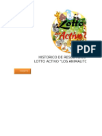 Historico de Resultados Lotto Activo