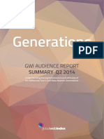 GWI Generations Summary Report Q2 2014