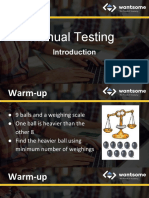 Software testing - introduction