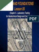 Lesson 05-Chapter 5 Laboratory Testingpart-A