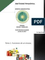 1. Funciones Del Envase, Tipos de Envases-1