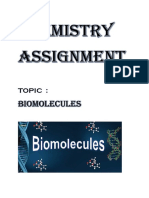 BIOMOLECULES   CHEMISTRY ASSIGNMENT