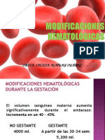 Modificaciones Hematologicas i