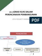Atih d, Integrasi Klhs Dalam Perencanaan Pembangunan