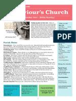 st saviours newsletter - 29 oct 2017