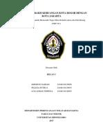 Analisis Interaksi Keruangan Kota Bogor Dengan Jakarta