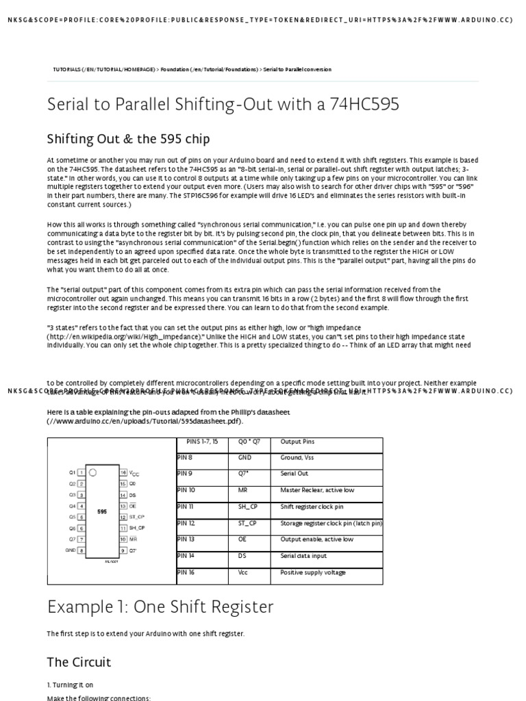 Arduino - ShiftOut pdf | Arduino | Computer Hardware