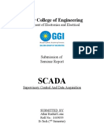 Scada Report of Seminar by Electronis and Electrical Department