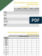 Formato Matriz de Selección de Técnicas e Instrumentos de Recolección Datos