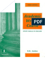 R.R. Jordan Academic Writing Course Study Skills in English